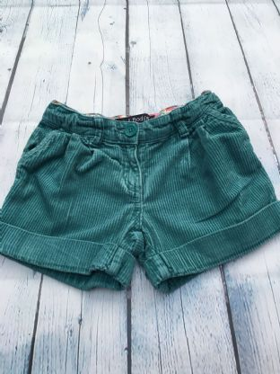 Mini Boden teal cord shorts age 5 (fits age 4-5)
